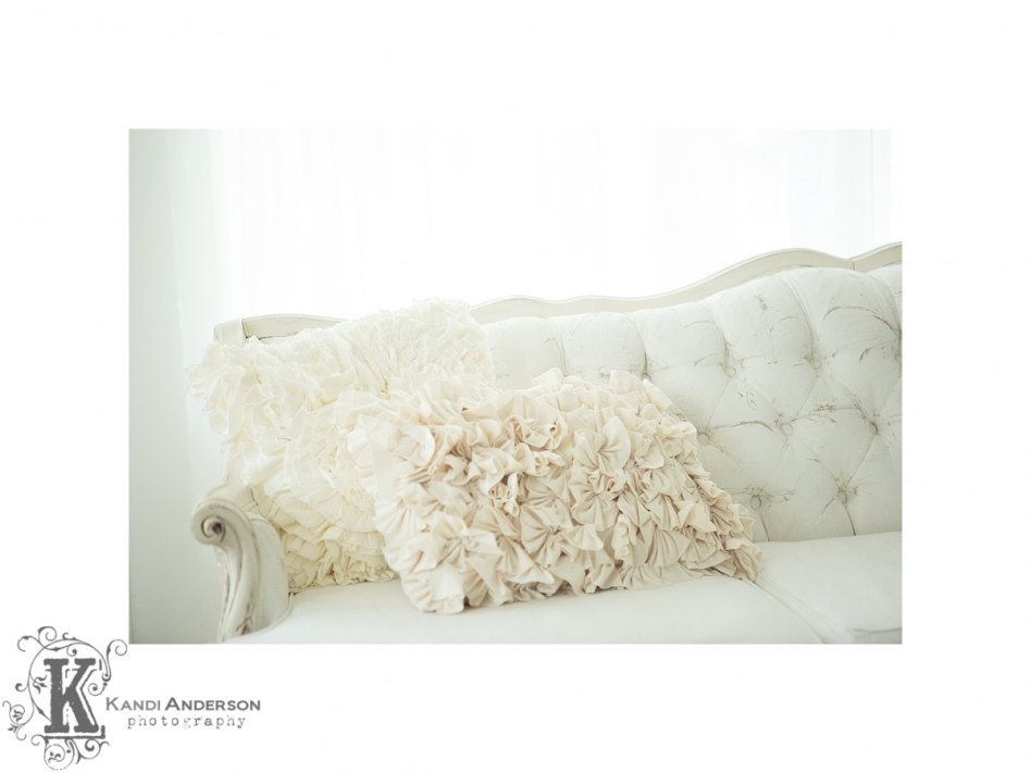 new vintage white couch in studio