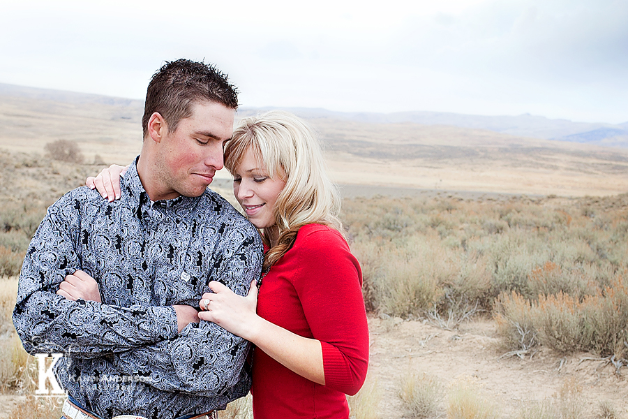 young couple from Elko engagement photography session