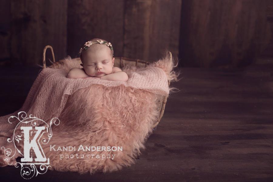 Newborn baby photographed in the Carlin studio