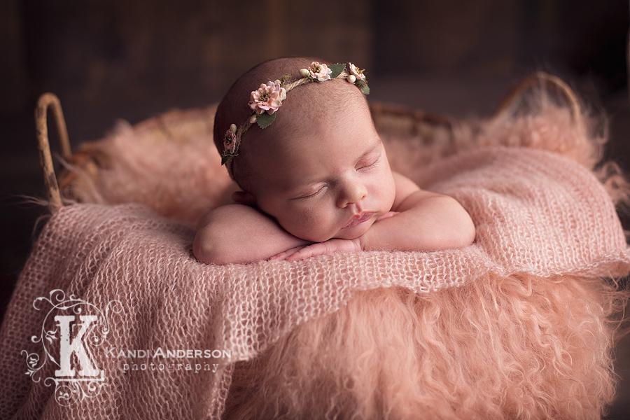 Newborn baby photographed in the Carlin newborn studio
